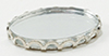 Dollhouse Miniature Tiny Mirrored Tray, Silver