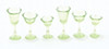 Dollhouse Miniature 6 Pcs, Stemware, Transparent Green