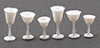 Dollhouse Miniature Stemware, White, 6/Pc