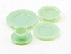 Dollhouse Miniature Place Setting, 5Pc Jadeite
