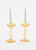 Dollhouse Miniature Candlesticks, Amber