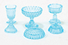Dollhouse Miniature Candy Dishes, 3Pc, Blue