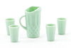 Dollhouse Miniature Pitcher & Glasses Set, Jadeite