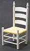 Dollhouse Miniature Shaker Side Chair, White