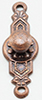 Colonial Door Knob, Oil Rubbed Bronze, 2Pk