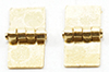 Dollhouse Miniature Square Hinges, 4 Pk