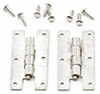 H Hinges With nails, 4Pk, Satin Nickel