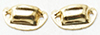 Dollhouse Miniature Victorian Drawer Pull, Brass, 4/Pk