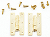 Dollhouse Miniature H Hinges With Nails, 4/Pk
