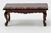 Dollhouse Miniature Coffee Table, Walnut