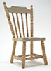 Dollhouse Miniature Spindle Side Chair, Unfinished