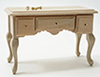 Dollhouse Miniature 3 Drawer Table, Unfinished
