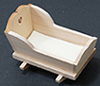 Dollhouse Miniature Cradle, Unfinished