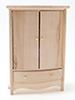Dollhouse Miniature Armoire, Unfinished