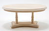 Dollhouse Miniature Oval Pedestal Table, Unfinished