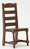 Ladder Back Side Chair, Walnut