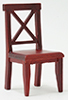Cross Buck Chair, Mahogany