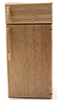 Dollhouse Miniature Modern Refrigerator, Oak
