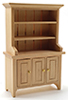 Dollhouse Miniature Hutch, No Accessories Included, Oak