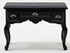 Desk, Black With Pewter Hardware