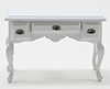 Desk, White With Pewter Hardware