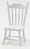 Dollhouse Miniature Side Chair, White