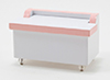 Dollhouse Miniature Toy Chest, Decal, White and Pink
