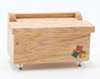 Dollhouse Miniature Toy Chest, Oak