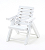 Dollhouse Miniature Outdoor Chair, White