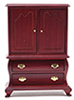 Dollhouse Miniature Armoire, Mahogany