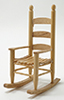 Dollhouse Miniature Rocker, Oak
