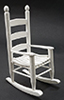 Dollhouse Miniature Rocker, White