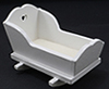 Dollhouse Miniature Cradle, White