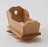 Dollhouse Miniature Cradle, Oak