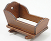 Dollhouse Miniature Cradle, Walnut