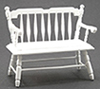 Dollhouse Miniature Deacon Bench, White
