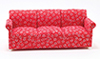 Dollhouse Miniature Sofa, Red