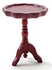 Dollhouse Miniature Pie Crust Table, Mahogany