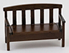 Dollhouse Miniature Garden Bench, Walnut