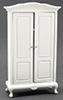 Dollhouse Miniature Armoire, White