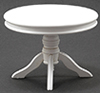Dollhouse Miniature Round Table, White