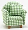 Dollhouse Miniature Chair with Pillow, Floral