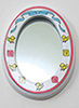 Dollhouse Miniature Mirror, White, ABCW Decal