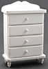 Dollhouse Miniature Chest Of Drawers, White