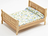 Sleigh Bed, Oak