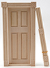 Dollhouse Miniature Fancy Door with Trim