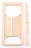 Dollhouse Miniature Double Swinging Door