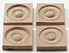 Dollhouse Miniature Large Corner Block, 4/Pk
