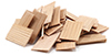 Dollhouse Miniature Shingles: Cedar Rectangle 140/Pk