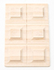 Dollhouse Miniature Wainscot Panels, 6 panels = 1 Sheet